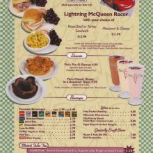 Flo's V8 Cafe Menu - ID: augdismenu20047 Disneyana