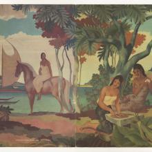 Polynesian Resort Menu - ID: augdismenu20315 Disneyana