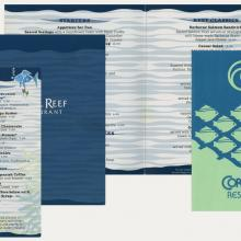 Collection of Coral Reef Restaurant Menu - ID: augdismenu20347 Disneyana