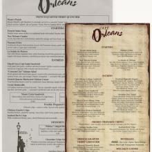 Cafe Orleans Menus - ID: augdismenu20355 Disneyana