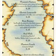 Adventurer's Club Specialty Drink Menu - ID: augdismenu20370 Disneyana