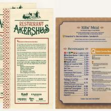 Restaurant Akershus Drink Menu and Kid's Menu - ID: augdismenu20394 Disneyana