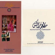 Restaurant Marrakesh - ID: augdismenu20415 Disneyana