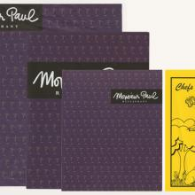 Collection of Monsieur Paul Restaurant Menus - ID: augdismenu20423 Disneyana
