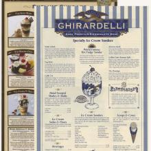 Ghirardelli Soda Fountain & Chocolate Shop Menu Set - ID: augdismenu20425 Disneyana
