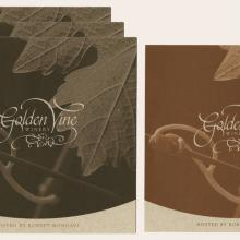 Collection of Golden Vine Winery Menus - ID: augdismenu20430 Disneyana