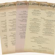 Collection of Grand Floridian Cafe Menus - ID: augdismenu20435 Disneyana