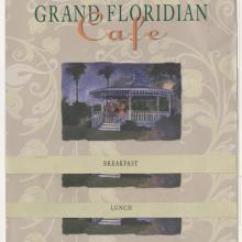 Set of Grand Floridian Cafe Menus - ID: augdismenu20436 Disneyana