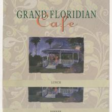 Pair of Grand Floridian Cafe Menus - ID: augdismenu20437 Disneyana