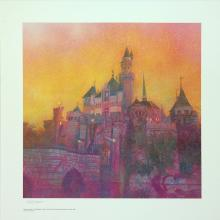 Disneyland at Dusk Signed Charles Boyer Print - ID: decboyer19043 Disneyana