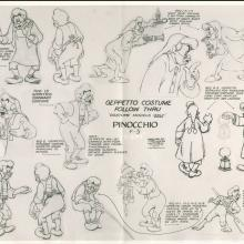 Pinocchio Photostat Model Sheet - ID: janmodel20016 Walt Disney