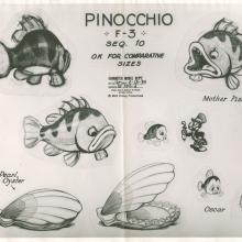 Pinocchio Photostat Model Sheet - ID: janmodel20238 Walt Disney
