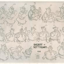 Robin Hood Photostat Model Sheet - ID: janmodel20311 Walt Disney