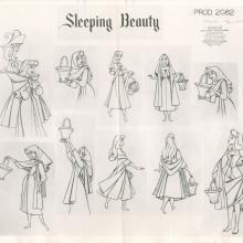 Sleeping Beauty Photostat Model Sheet - ID: janmodel20314 Walt Disney