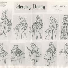 Sleeping Beauty Photostat Model Sheet - ID: janmodel20316 Walt Disney