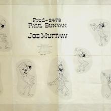 Paul Bunyan Photostat Model Sheet - ID: julybunyan20306 Walt Disney