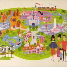 Shag Disneyland 50th Anniversary Map Print - ID: julydisneyana20330 Disneyana
