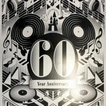 Walt Disney Records 60th Year Anniversary Poster - ID: julydisneyana20378 Disneyana