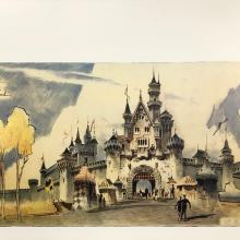 Fantasy Land Castle Entrance Concept Art Poster - ID: julydisneyana20389 Disneyana