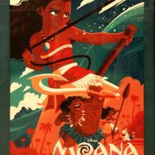 Moana Print - ID: julymoana20322 Walt Disney