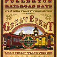 Fullerton Railroad Days Poster - ID: julyrailroad20381 Disneyana