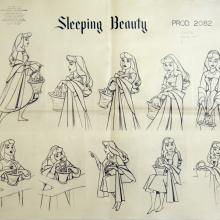 Sleeping Beauty Photostat Model Sheet - ID: julysleeping20302 Walt Disney