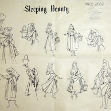 Sleeping Beauty Photostat Model Sheet - ID: julysleeping20303 Walt Disney