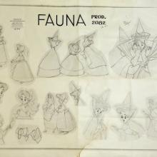 Sleeping Beauty Photostat Model Sheet - ID: julysleeping20305 Walt Disney