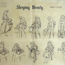 Sleeping Beauty Photostat Model Sheet - ID: julysleeping20308 Walt Disney