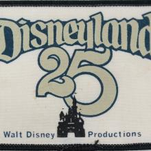 1980 Disneyland 25th Anniversary Cast Member Patch - ID: jundisneyana20066 Disneyana