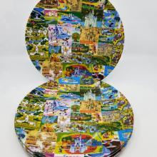 Magic Kingdom Map Plate Set - ID: jundisneyana20082 Disneyana