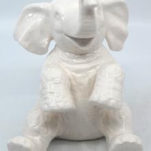 Jungle Cruise White Ceramic Elephant Figurine - ID: jundisneyana20214 Disneyana
