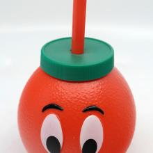 Orange Bird Head Plastic Drinking Glass with Straw - ID: jundisneyana20228 Disneyana