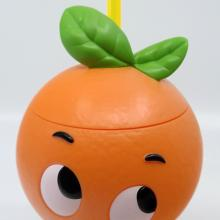 Orange Bird Plastic Drinking Glass with Straw - ID: jundisneyana20229 Disneyana