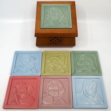 Snow White Ceramic Coaster Set - ID: jundisneyana20234 Disneyana
