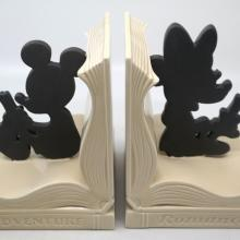 Mickey and Minnie Mouse Bookends - ID: jundisneyana20241 Disneyana