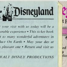 Disneyland Bicentennial Attraction Ticket Book - ID: jundisneyland20220 Disneyana