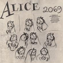 Alice in Wonderland Photostat Model Sheet - ID: junmodel20090 Walt Disney
