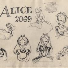 Alice in Wonderland Photostat Model Sheet - ID: junmodel20091 Walt Disney