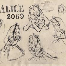 Alice in Wonderland Photostat Model Sheet - ID: junmodel20092 Walt Disney