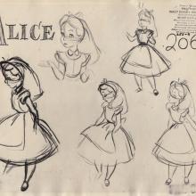 Alice in Wonderland Photostat Model Sheet - ID: junmodel20093 Walt Disney