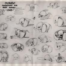 Dumbo Photostat Model Sheet - ID: junmodel20095 Walt Disney