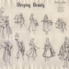 Sleeping Beauty Photostat Model Sheet - ID: junmodel20101 Walt Disney