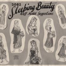 Sleeping Beauty Photostat Model Sheet - ID: junmodel20102 Walt Disney