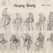Sleeping Beauty Photostat Model Sheet - ID: junmodel20106 Walt Disney