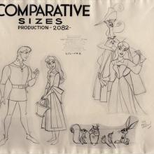 Sleeping Beauty Photostat Model Sheet - ID: junmodel20108 Walt Disney