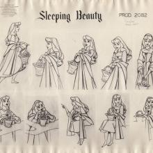 Sleeping Beauty Photostat Model Sheet - ID: junmodel20114 Walt Disney