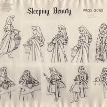 Sleeping Beauty Photostat Model Sheet - ID: junmodel20114 Walt Disney
