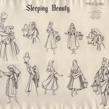 Sleeping Beauty Photostat Model Sheet - ID: junmodel20117 Walt Disney