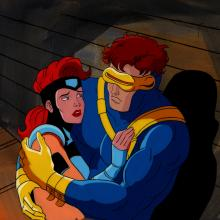 X-Men Production Cel & Background - ID: junxmen063 Marvel